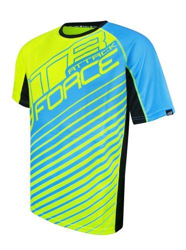 Koszulka FORCE MTB ATTACK, fluo blue