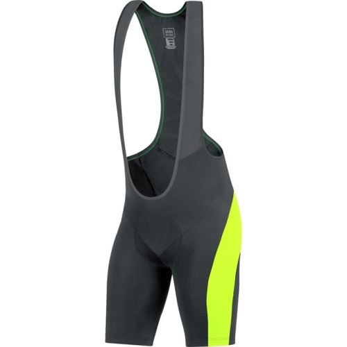 Kraťasy GORE Element Bibtights short+-black/neon yellow