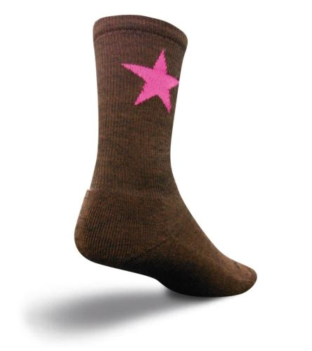 Ponožky Sock Guy - Wooligan Pink star